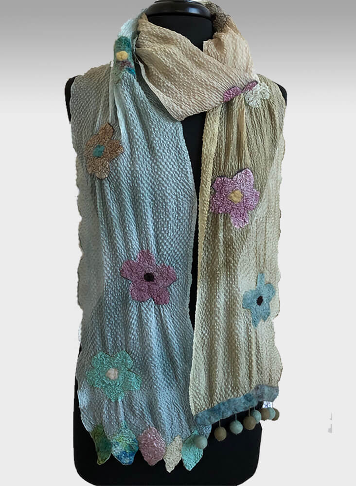 aboutcolor handmade scarves and shawls by Judy Levine